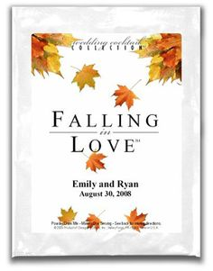 fallthemed bridal shower fall themed wedding favors for autumn bridal shower or reception