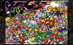 Mega Man Robot Masters - Megaman  Video Games Background