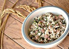 Riso alla pilota o riso e salsiccia ricetta tipica mantovana #ricetta di @luisellablog Potato Salad, Potatoes, Ethnic Recipes, Cooking, Food, Kitchen, Potato, Essen, Meals