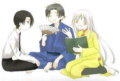 Natsuki Takaya, Fruits Basket, Hatori Sohma, Shigure Sohma, Ayame Sohma El trío maravilla