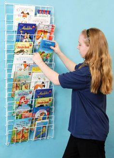 Vertical Wall Mount Book Rack
