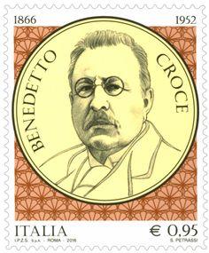 Emissione di un francobollo commemorativo di Benedetto Croce, nel 150° anniversario della nascita