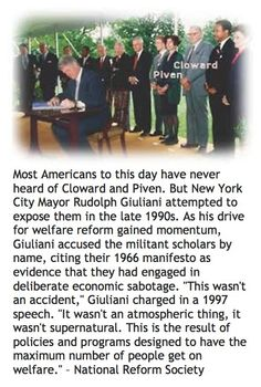 Cloward-Piven // Please read this..this is why we are being raped by this government under Obama.
