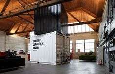 Burnkit / Vancouver, Canada // Open plan warehouse office of Burnkit design studio.