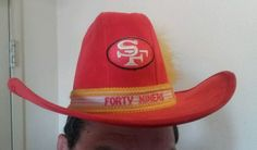 Red #CowboyHat by AJD #Vintage San Francisco #SF #49ers Gold- #FORTYNINERS SZ-Small #AJD #SanFrancisco49ers only one listed on eBay in recent memory, get it before it gets got and you get caught without a cowboy hat at Levi's stadium... cowboyyyyy YEEEEEEHAW!!!