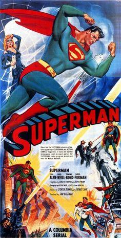 1948 Vintage Movie Poster: Superman