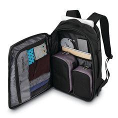 Samsonite Detour Travel Backpack in the color Black. Travel Backpack Carry On, Laptop Backpack, Travel Packing, Travel Luggage, Backpack Bags, Travel Bags, Travel Info, Backpacks For Travel, Travel City