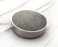 concrete pendant. love this idea!