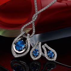 white gold tanzanite and diamond pendant, & white gold tanzanite and diamond earrings Diamond Pendant, Diamond Earrings, Somerset West, Fine Jewelry, Jewellery, Jewelry Collection, White Gold, Vans, Pendant Necklace
