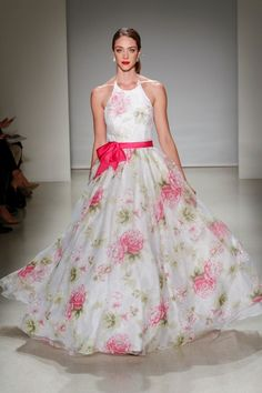 Floral wedding dress from Alfred Angelo Wedding Dresses For Sale, Colored Wedding Dresses, Wedding Gowns, Bridal Gowns, Alfred Angelo, Bridal Fashion Week, Wedding Attire, Dress Collection, Designer Collection