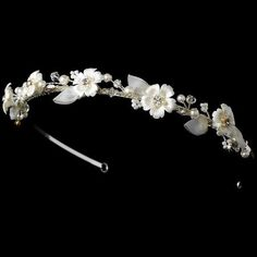 headband with white flowers - Google Search