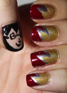 :O!!!!!! AMAZING!!!! harry potter nail art