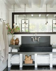 cool modern industrial bathroom