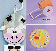 Brinquedos reciclados com CD's usados