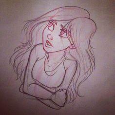 Quick doodle #angiensca #sketch #doodle #quicksketchcontest #girl #instaart