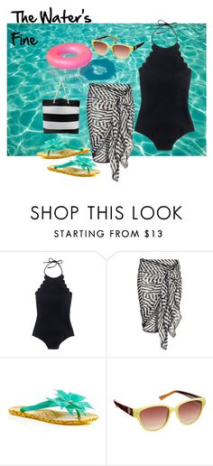 """""""Cute & Practical Swimsuit"""" by tammydevoll ❤ liked on Polyvore featuring J.Crew and Kate Spade"""