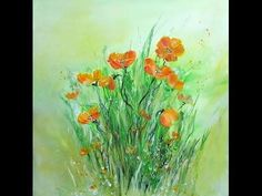 Acrylmalerei für Anfänger, Blumen, Painting for Beginners, Flowers - YouTube