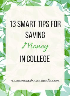 These tips are the must-read tips for saving money in college.