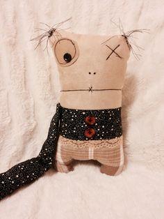 Monster Rag Doll Nora - Handmade Art Doll!