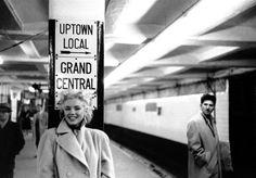 Marilyn Monroe, NYC subway, 1955