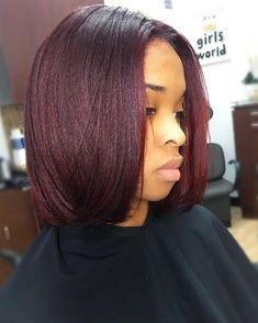 New Hair Balayage Brunette Short Boxes Ideas Natural Hair Bob, Pressed Natural Hair, Natural Hair Styles, Burgundy Natural Hair, Wine Hair, Dimensional Hair Color, Hair Color For Black Hair, Burgundy Hair Black Girl, Brown Hair