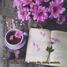 Shared by Find images and videos about flowers, inspiration and purple on We Heart It - the app to get lost in what you love. I Love Books, Good Books, Coffee Time, Tea Time, Morning Coffee, Book Flowers, Coffee And Books, Book Aesthetic, Spring Aesthetic