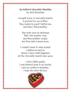 My Mothers Chocolate Valentine by Jack Prelutsky