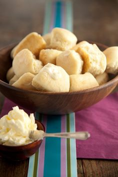 Fabulous for dredging through fall stews & soups -- Easy Yeast Rolls