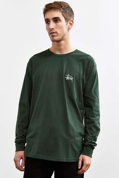 Stussy Basic Long Sleeve Tee - Urban Outfitters