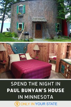 Looking for a fun local staycation? Travel to Paul Bunyan's charming guest cabin in Walker, Minnesota. This lakeside getaway is perfect for families. | Local Day trip Ideas | Travel With Family And Kids | Beach Trip | Vacation Destinations | Things To Do Vacation Destinations, Vacation Spots, Summer Travel, Summer Fun, Paul Bunyan, Lakeside Cabin, Guest Cabin, Beach Kids, Travel Items