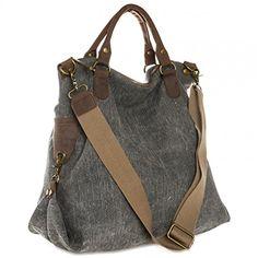 CASPAR Unisex Große Tasche Vintage Freizeit Tasche / Ledertasche / Umhängetasche mit stylischem Canvas / Leder Mix - viele Farben - TL706, Farbe:schwarz CASPAR Fashion http://www.amazon.de/dp/B00UZ69W9Y/ref=cm_sw_r_pi_dp_B1-gwb0VJSAG7