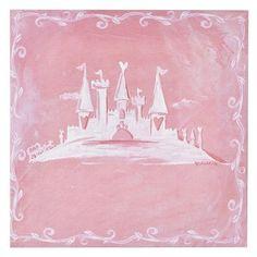 "Oopsy Daisy too Princess Castle Wall Art - 10x10""."