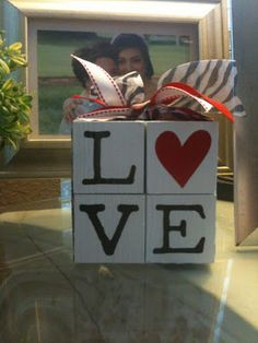 For the most romantic day in the year, Valentine's Day we have selected interesting diy crafts. Be creative for the Valentine's Day and give cute gifts to your loved ones. The gift would have bigger meaning if you make it… Continue Reading → Diy Valentine's Day Decorations, Valentines Day Decorations, Valentine Day Crafts, Valentine Ideas, Valentines Day Decor Rustic, 2x4 Crafts, Wood Block Crafts, Wood Blocks, My Funny Valentine