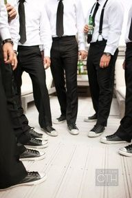 0c1a1f091cb17c Converse and suits ! Groomsmen Shoes