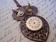 Steampunk Owl Pendent by ClockworkMonster on Etsy, $28.00  Recently featured on the front page of www.leancrafting.com