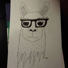 Nerdy Llama  https://www.facebook.com/drawingsMegan/?hc_ref=SEARCH