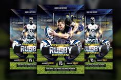 Rugby Flyer by Basez Flyers on @creativemarket