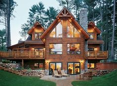log house w/ patio!! Oh man... one day!!
