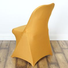 Chair Covers for Folding Chair / Spandex - Gold Party Chairs, Table And Chairs, Table Linens, Dining Chairs, Folding Chair Covers, Spandex Chair Covers, Chair Height, Chair Sashes, Chair Types