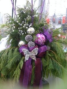 Gorgeous Live Purple Christmas Swag