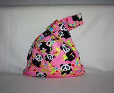 Utensilos & Stoffkörbchen - ** Wendetasche Stricktasche Knotentasche, Panda** - ein Designerstück von Kaepseles bei DaWanda