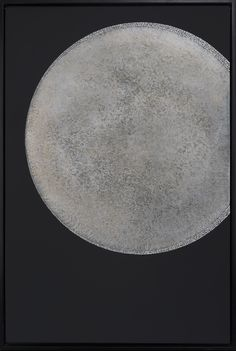 Moon serie - Lunar eclipse Lacquer with wax finish and detail in eggshells inlays - 90x60 cm