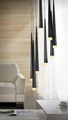 Long drop fluted 8 shade fitting, a great long drop light for stairwells and energy efficient too. From Lighting Styles the long drop specialist lighting company. Lighting Uk, Stair Lighting, Suspended Lighting, Modern Lighting Design, Luxury Lighting, Dining Room Lighting, Fashion Lighting, Interior Lighting, Pendant Lighting