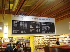 whole foods coffee bar -Fabulous! Note how the dropped ceiling is ...