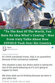 #Rest #World #Idea #Man #Italy #Talks #COVID19 #Country