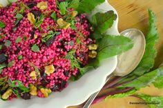 Pink Israeli couscous