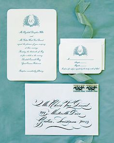 invitation suite martha stewart wedding