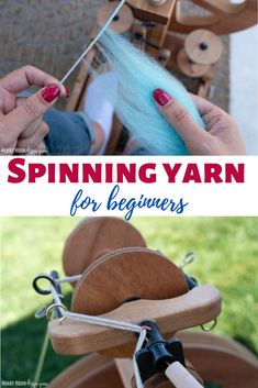 Excited to embark your spinning adventures, but not sure where to start? This post has everything you need to know when learning how to spin yarn. Spinning Wool, Hand Spinning, Spinning Wheels, Drop Spindle, Farm Crafts, Craft Tutorials, Needle Felting, Crochet, Wool Yarn