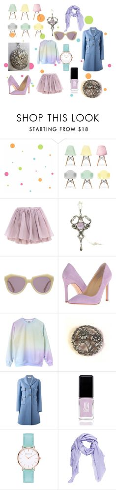 Candy Dots by troppo-bella-vintage on Polyvore featuring Valentino, Olympia Le-Tan, Ivanka Trump, Abbott Lyon, Gucci, Karen Walker, JINsoon, Ciel and York Wallcoverings
