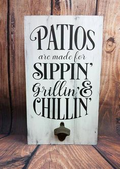 Ultimate Deck And Patio Area Retreat For Easy Living – Outdoor Patio Decor Outdoor Wood Signs, Patio Signs, Wood Pallet Signs, Porch Signs, Wood Pallets, Outdoor Pallet, Pallet Patio, Indoor Outdoor, Garden Pallet